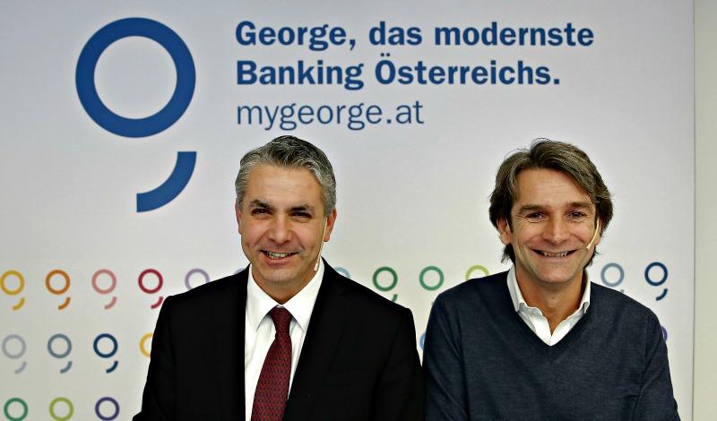 """""""Mediul in care operam s-a schimbat dramatic in ultimii ani. Concurentii nostri nu mai sunt doar alte banci, ci si start-up-urile specializate in noile tehnologii, care vor o parte din business-ul nostru"""", spune Peter Bosek, seful diviziei retail la Erste Bank (foto stanga), alaturi de Boris Marte, directorul Erste Hub, firma infiintata de banca in urma cu trei ani pentru a dezvolta noua platforma online George, cu scopul de a face fata concurentilor de care vorbeste Bosek."""
